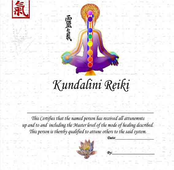 Reiki Certificate Template Narco Penantly Co